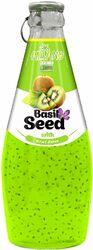 Киви с семенами базилика